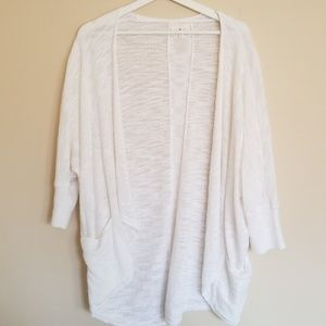 EUC Lou & Grey Cacoon Sweater Pockets White Medium
